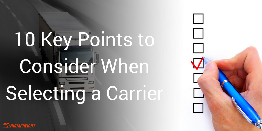 10 Key Points to Consider when Selecting a Carrier 1024x512 - Key Points to Consider when Selecting the Right Carrier