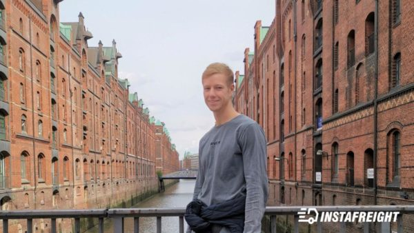 Picture of our InstaFreight business development intern Dominik